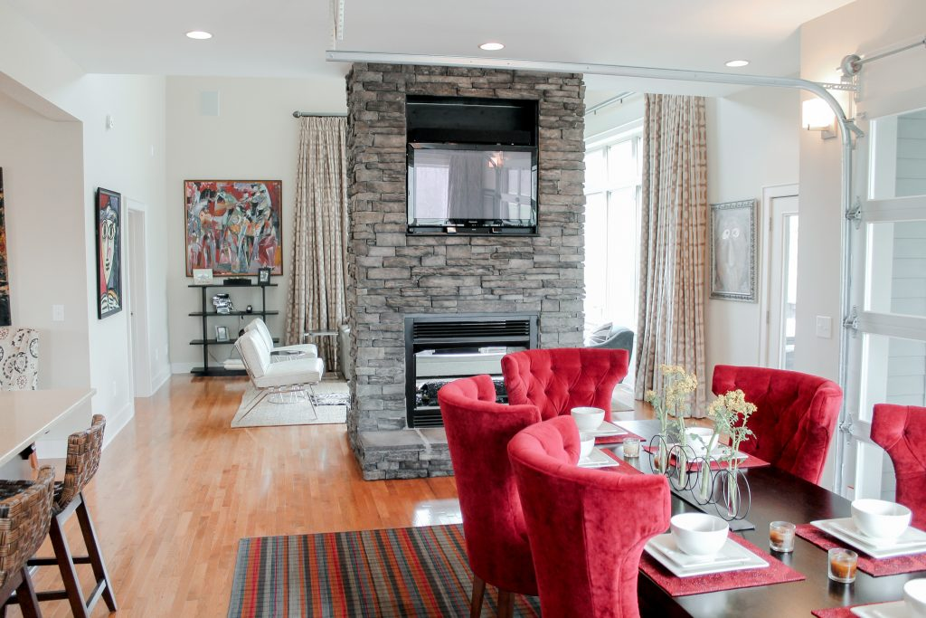 Stone Fireplace Interior Design