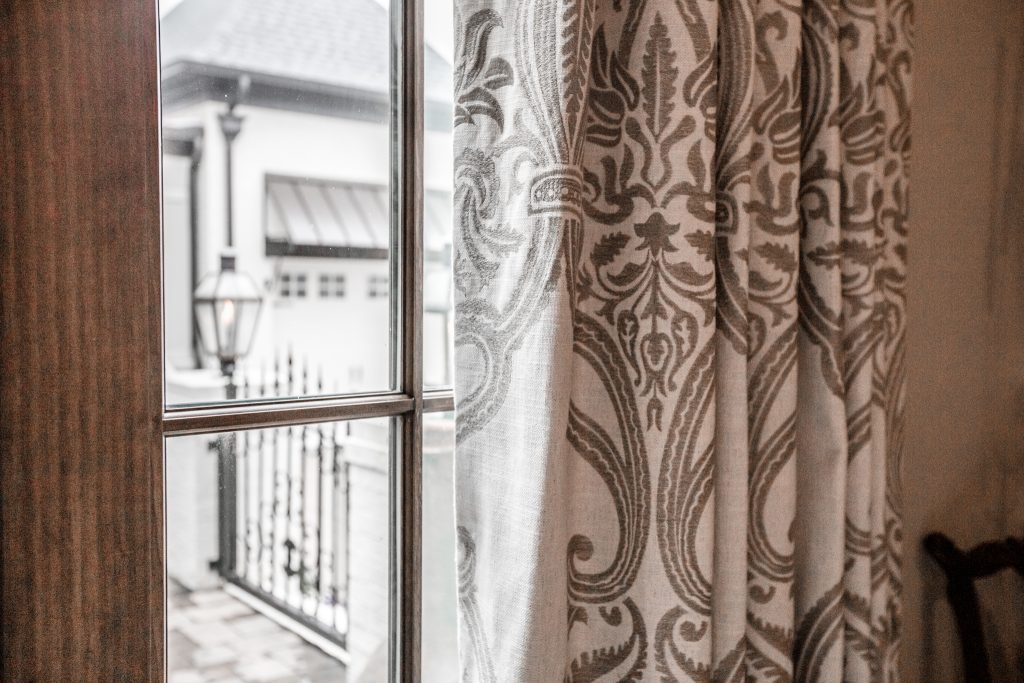 Damask Curtains Interior Design